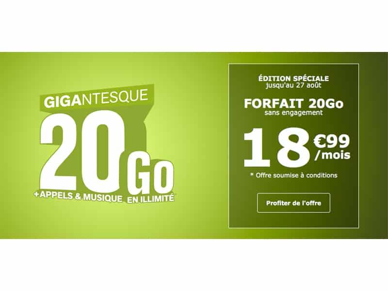 La Poste Mobile : forfait 20 Go sans engagement à 18,99€/mois