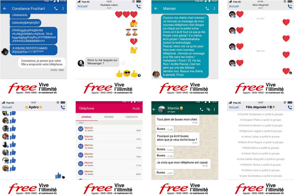 Affiche Free Mobile illimité