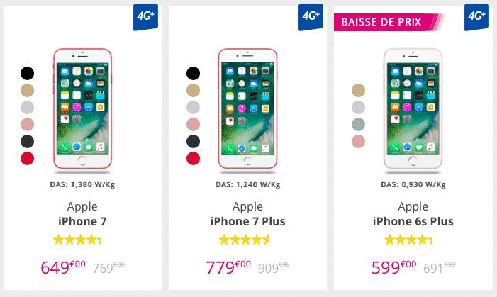 L'iPhone 7 coute 100€ de moins depuis la sortie de l'iPhone 8