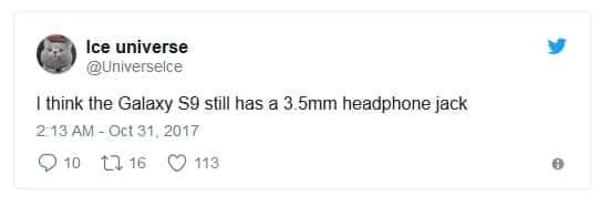 Un tweet leake des informations sur le Galaxy S9