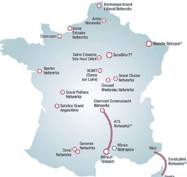 Carte de France Covage fibre