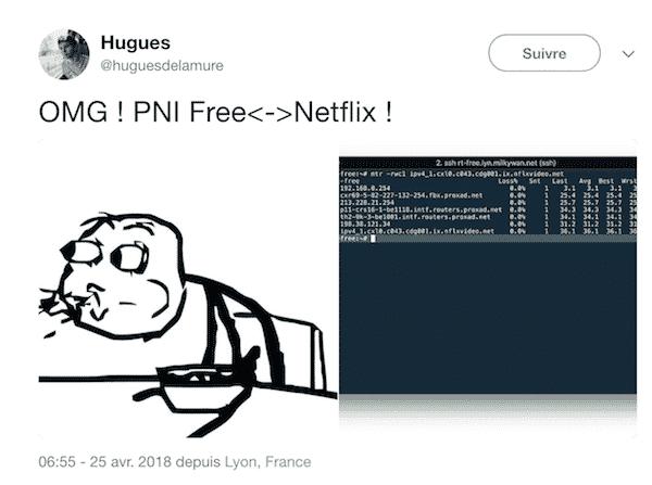 Premier lien interconnexion découvert sur twitter en avril.