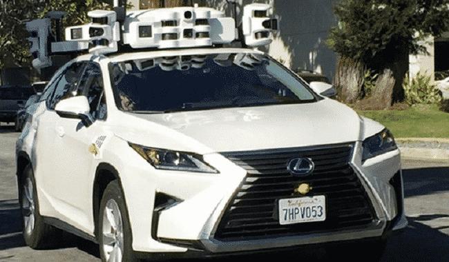 Apple Plans véhicule capteurs
