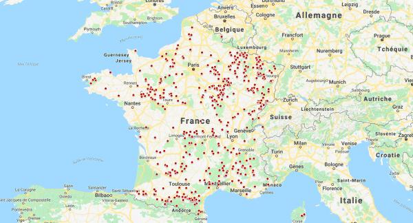 Les communes françaises en zones blanches.