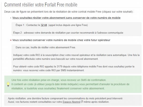 Changement de la procédure de résiliation chez Free mobile
