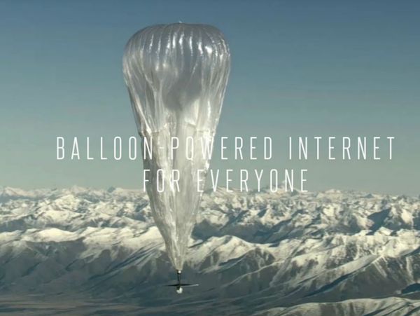Le projet Loon de Google pour desservir le monde en 4G