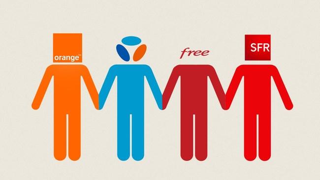 Les 4 principaux opérateurs qui se partagent le réseaux français