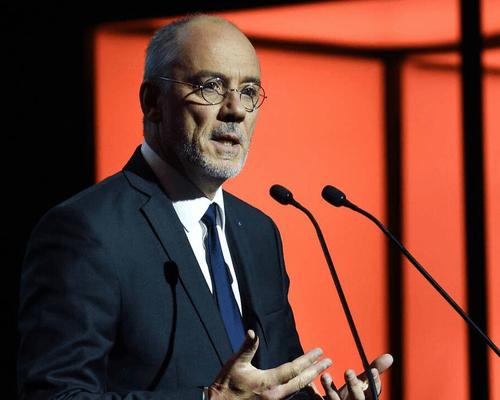 Stéphane Richard PDG de Orange lors de de son annonce.