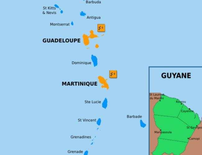 Les habitants de la Guadeloupe, la Martinique et la Guyane française pourront bientôt utiliser Free Mobile sur leurs smartphones.