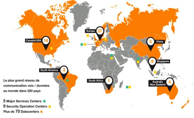 Orange est présent dans le monde entier