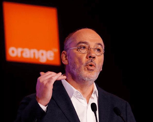 Stéphane Richard lors de la présentation du plan d'Orange.